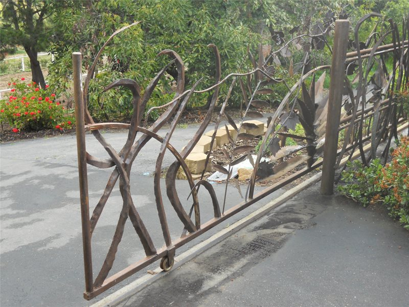 Metal Gate With Design Gates and Fencing Landscaping Network Calimesa, CA
