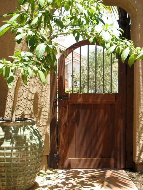 Wood Pedestrian Gate Gates and Fencing Designs by Shellene San Diego, CA