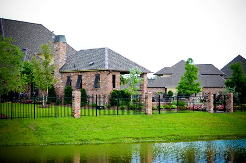 Wrought Iron, Brick Pillars Gates and Fencing Angelo's Lawn-Scape Of Louisiana Inc Baton Rouge, LA