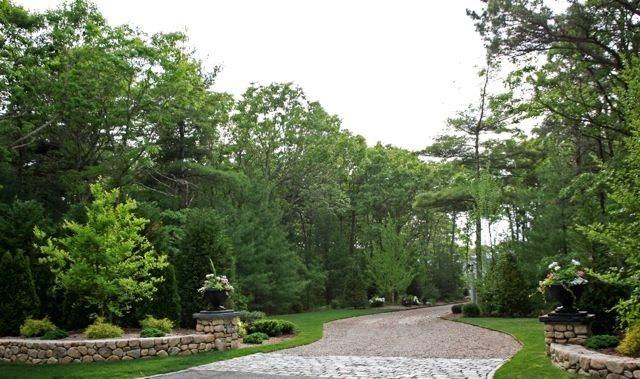 Cape Cod Driveway Gravel Driveway Elaine M. Johnson Landscape Design  Centerville, MA