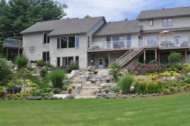 Hillside Plantings, Stone Steps, Boulders Hillside Landscaping Renaissance  Landscape Group Inc Puslinch, ON