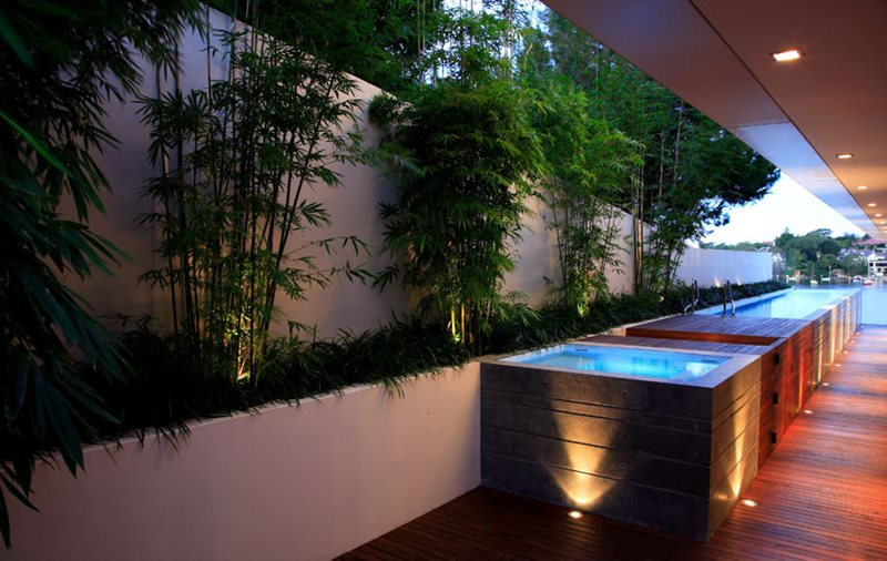 Raised Lap Pool International Landscaping Secret Gardens Sydney, NSW