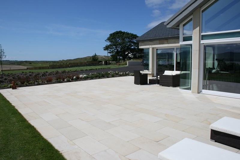 Sandstone Patio International Landscaping McMonagle Stone Co. Donegal, Ireland