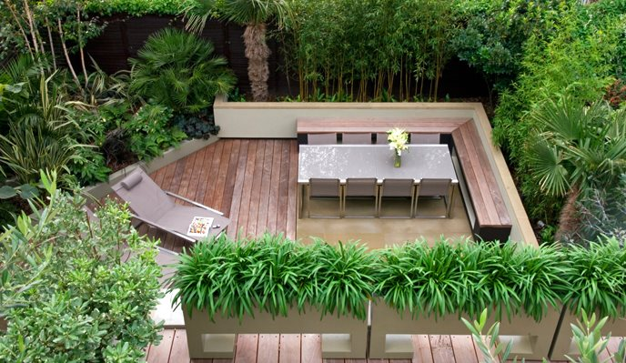Small Roof Terrace International Landscaping MyLandscapes LTD London, UK