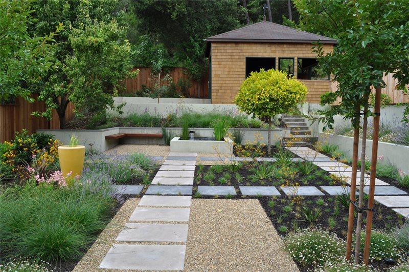 Huettl Landscape Architecture Lawnless Landscaping Huettl Landscape Architecture Walnut Creek, CA