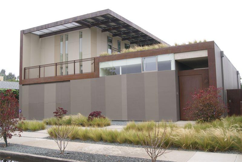 Modern Front Yard Lawnless Landscaping Z Freedman Landscape Design Venice, CA