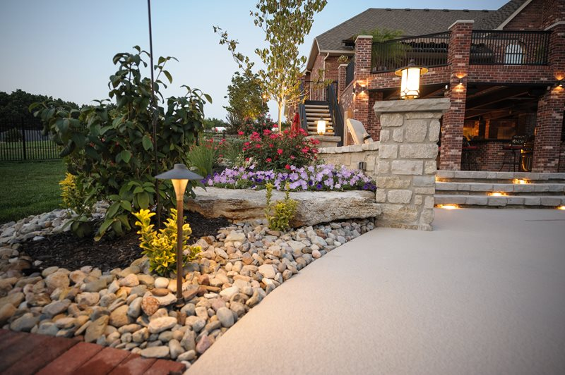 Backyard Lighting, Pillar Light, Path Light Lighting Artistic Group Inc. St. Louis, MO