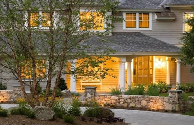 Front Yard Lighting, Wall Lighting Lighting Belknap Landscape Co., Inc. Gilford, NH