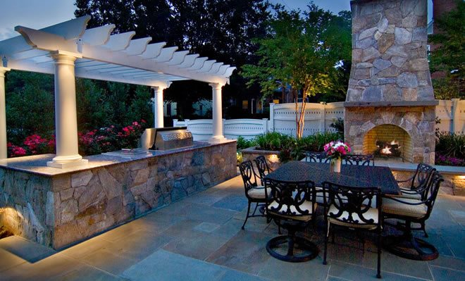 Lighting annapolis md photo gallery landscaping network grill pergola outdoor living area lighting lighting walnut hill landscape company annapolis md workwithnaturefo