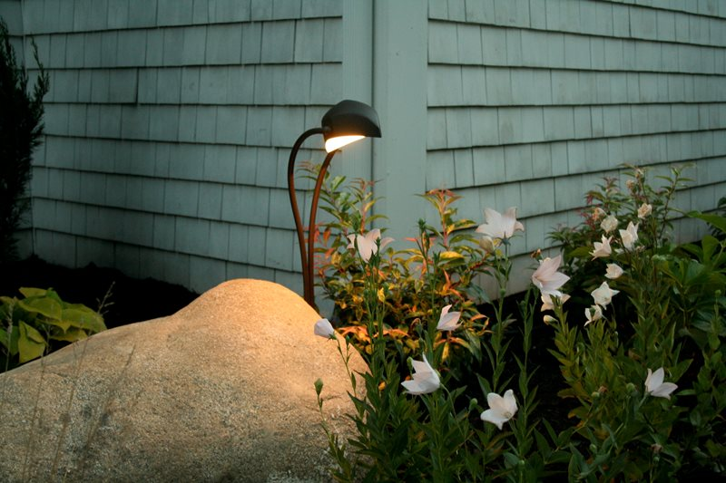 Kichler Landscape Lighting Lighting Captain's Landscape Design and Build Duxbury, MA