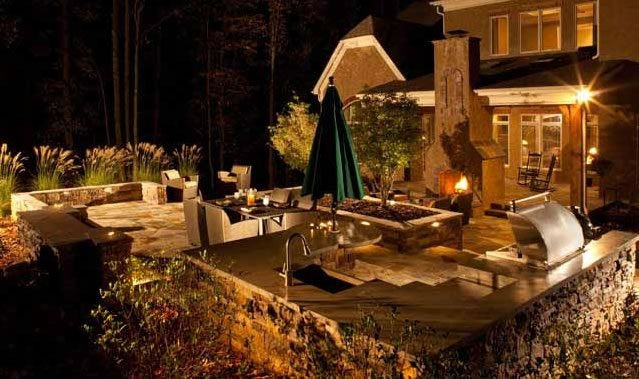Landscape Lighting Design Lighting J'Nell Bryson Landscape Architecture Charlotte, NC