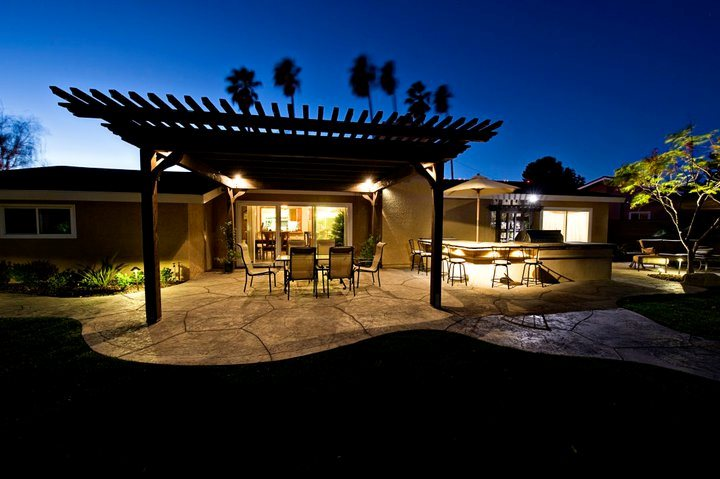 Patio Pergola Lighting Effects Lighting Lifescape Designs Simi Valley, CA