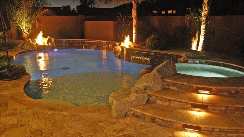 Pool Lights Lighting Alexon Design Group Gilbert, AZ
