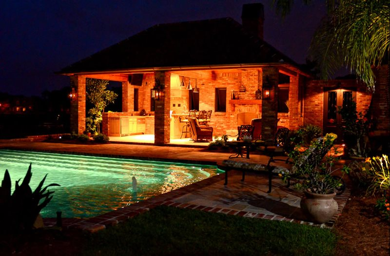 Pool Lights, Ramada Lighting Lighting Angelo's Lawn-Scape Of Louisiana Inc Baton Rouge, LA