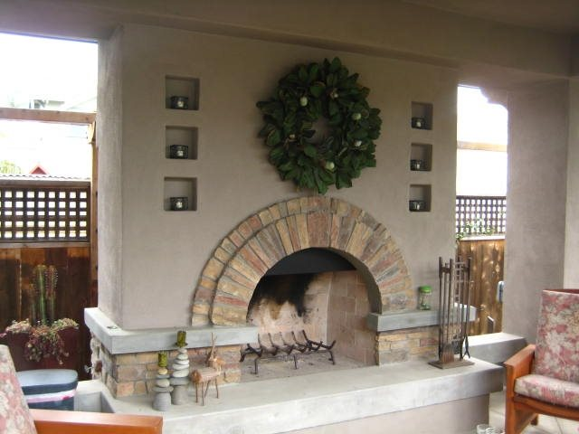 Outdoor Fireplace Mediterranean Fireplace Landscaping Network Calimesa, CA