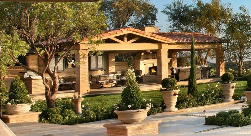 Mediterranean Landscaping AMS Landscape Design Studios Newport Beach, CA