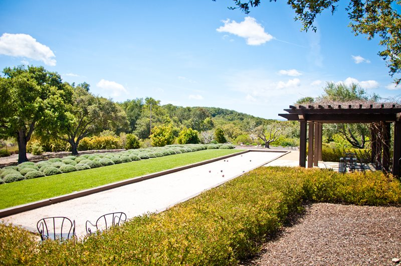 Bocce Court, Mediterranean Plants Mediterranean Landscaping Ecotones Landscapes Cambria, CA