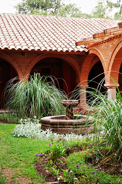 Carved Mediterranean Fountain Mediterranean Landscaping Landscaping Network Calimesa, CA