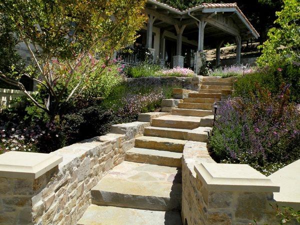 Front Yard Stairs Mediterranean Landscaping Suzman Design Associates San Francisco, CA