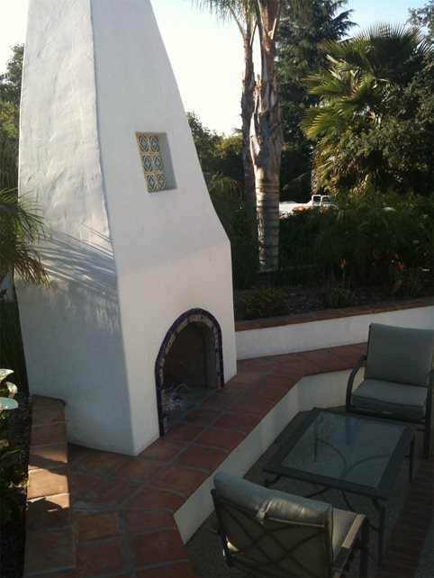 Outdoor Fireplace Mediterranean Landscaping Landscaping Network Calimesa, CA