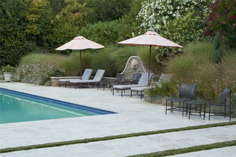 Swimming Pool Mediterranean Landscaping Shades of Green Landscape Architecture Sausalito, CA