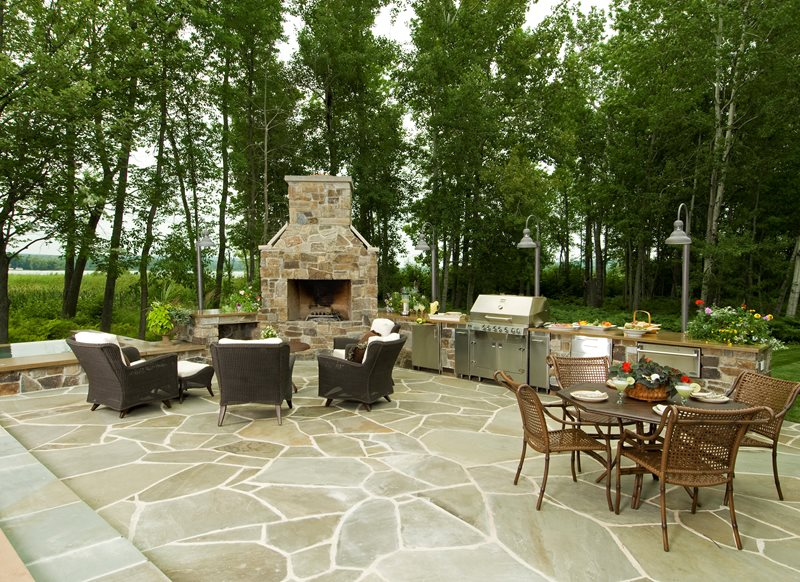 Michigan landscaping petoskey mi photo gallery Backyard landscaping ideas with stones
