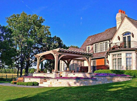 Retaining Walls, Terracing Midwest Landscaping Romani Landscape Architecture Glencoe, IL