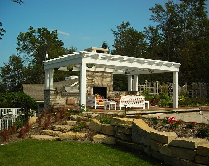 Stone Veneer Midwest Landscaping Apex Landscape Grand Rapids, MI