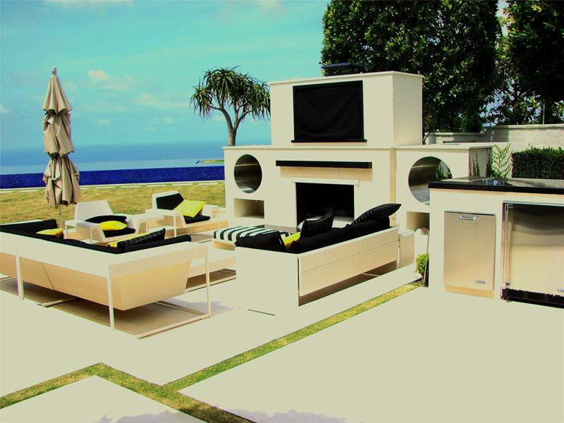 Modern Landscaping AMS Landscape Design Studios Newport Beach, CA