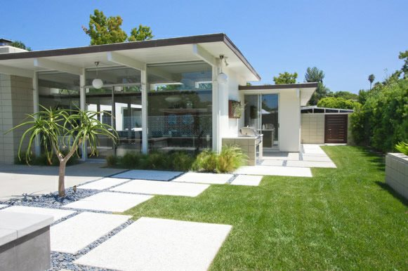 Concrete Pads, Rectangles, Mod Modern Landscaping DC West Construction Inc. Carlsbad, CA