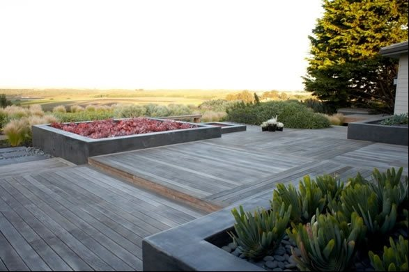 Ipe Hardwood Deck Modern Landscaping Jeffrey Gordon Smith Landscape Architecture Los Osos, CA