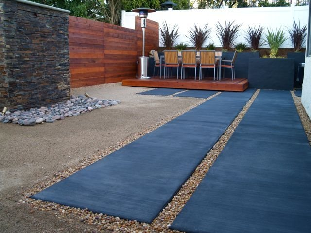 Low Water Backyard Modern Landscaping Glorious Gardens Landscape Leucadia, CA