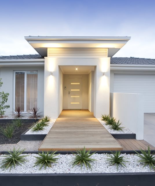 Modern Home Entrance, Modern Walkway Modern Landscaping Landscaping Network Calimesa, CA