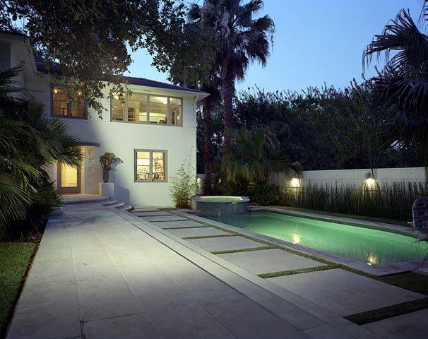 Modern Pool, Pool Lights Modern Landscaping David Wilson Garden Design Austin, TX