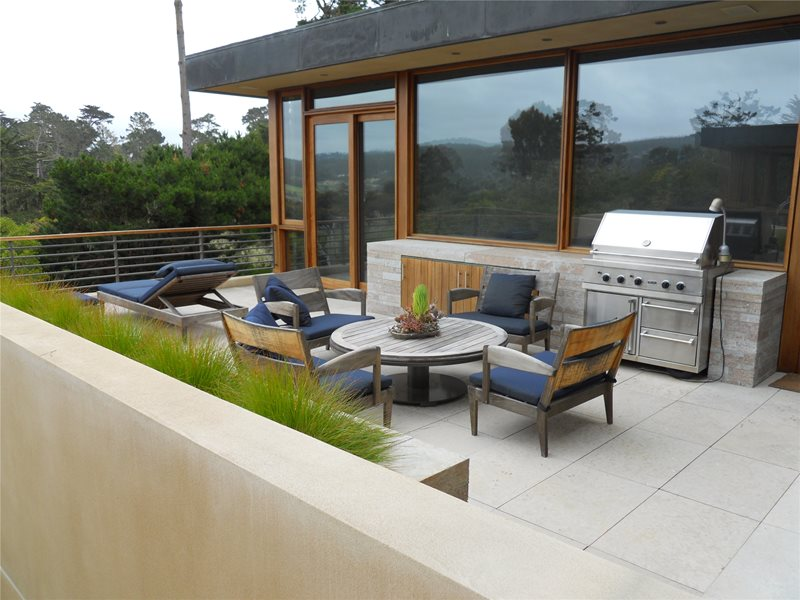 Outdoor Kitchen Area Modern Landscaping Landscaping Network Calimesa, CA