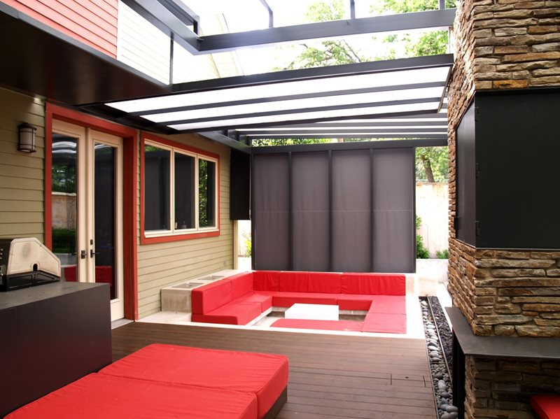 Outdoor Lounge Modern Landscaping Austin Outdoor Design Austin, TX