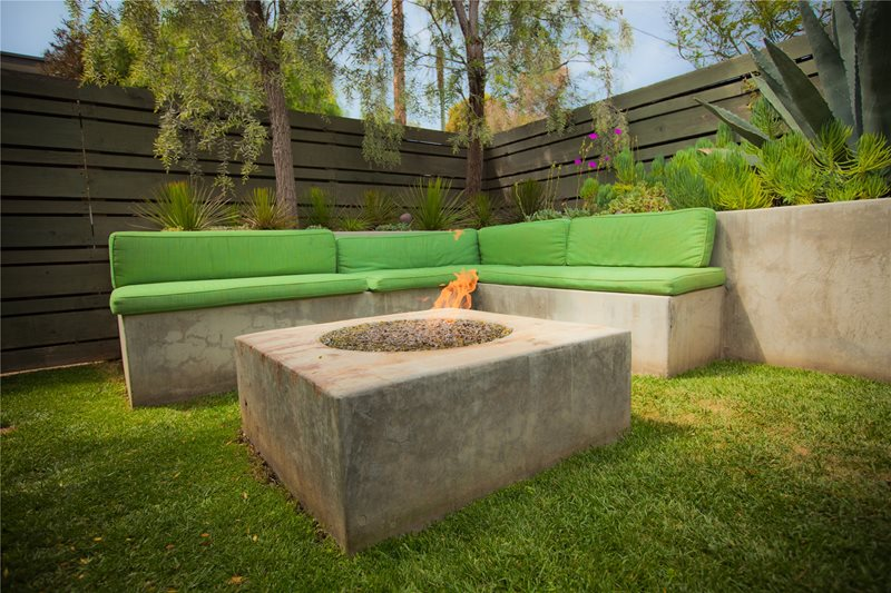 Square Fire Pit, Modern Fire Pit Modern Landscaping Landscaping Network Calimesa, CA