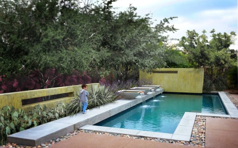 geometric pool design modern pool bianchi design scottsdale az