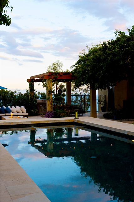 Refinished Pool Modern Pool Fiore Design North Hollywood, CA