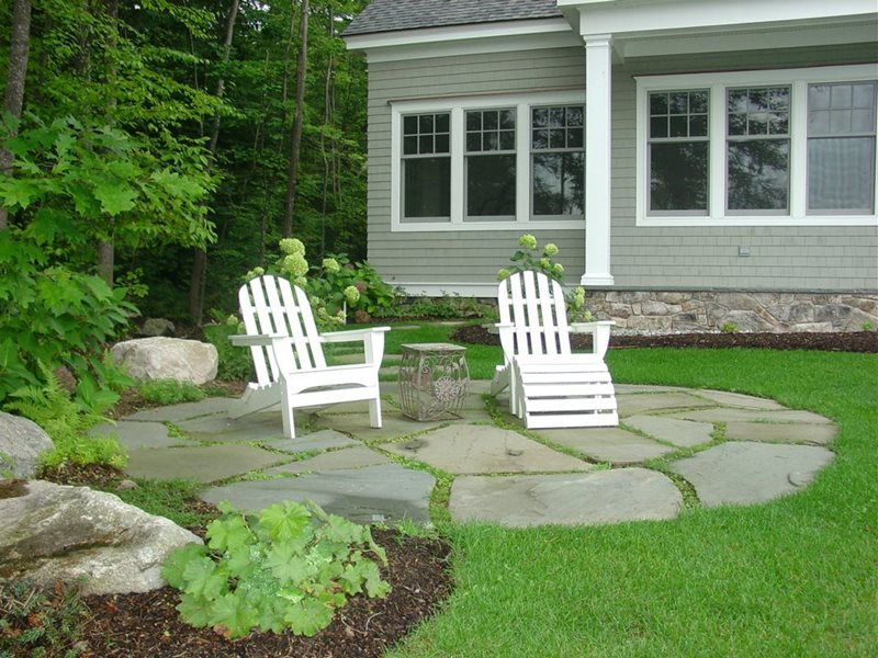 Northeast Landscaping - Gilford, NH - Photo Gallery ... on Small Backyard Stone Patio Ideas id=94658