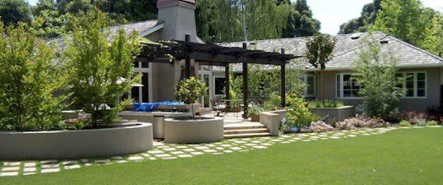 Backyard, Lawn, Installation Northern California Landscaping Aesthetic Gardens Mountain View, CA