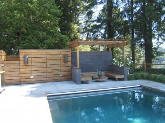 Built In Outdoor Seating Northern California Landscaping Outer Space Landscape Architecture San Francisco, CA