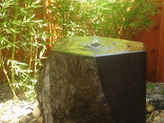 Granite Fountain Northern California Landscaping Outer Space Landscape Architecture San Francisco, CA