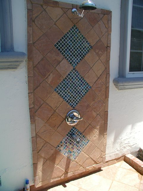 Pool Shower Northern California Landscaping Cyprex Construction Landscapes San Jose, CA