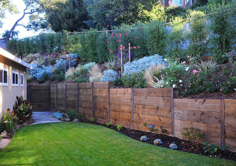 Rustic Fence Northern California Landscaping Cagwin & Dorward Novato, CA