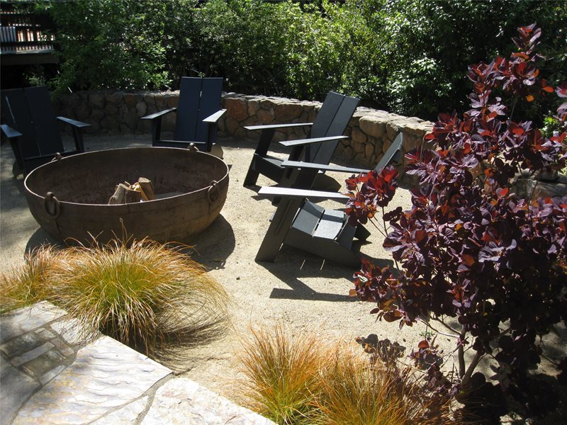 Rustic Fire Pit, Cauldron Fire Pit Northern California Landscaping Dig Your  Garden Landscape Design San - Northern California Landscaping - San Anselmo, CA - Photo Gallery