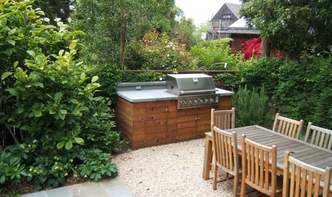 Simple Outdoor Kitchen Northern California Landscaping Outer Space Landscape Architecture San Francisco, CA