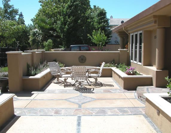 Stone Patio Pattern Northern California Landscaping Inside Out Davis, CA
