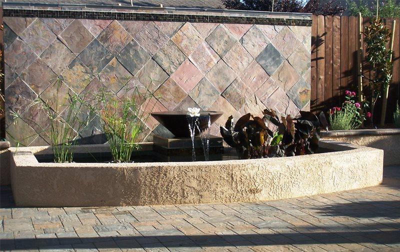 Tile Fountain Northern California Landscaping Karen McGrath Design Redding, CA