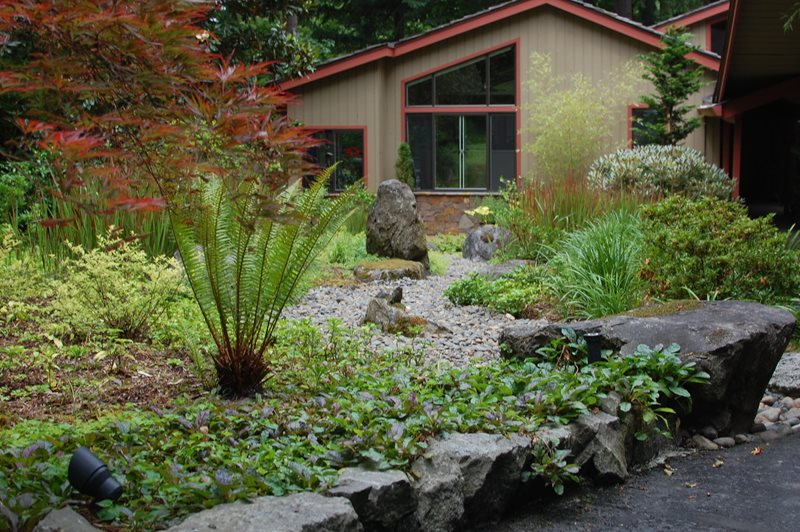 Landscape Boulders Oregon Landscaping Ross NW Watergardens Portland, OR